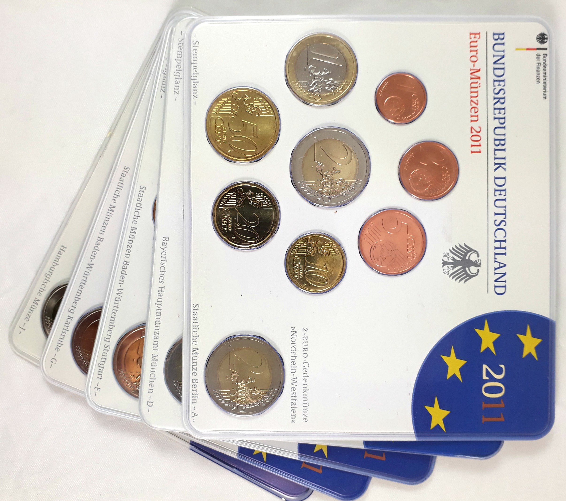 Germany Federal Republic Complete Annual 9 Eurocoin Set 2011